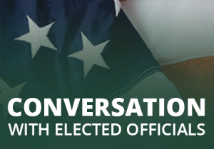 conversation with elected officials