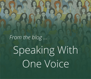 speaking with one voice
